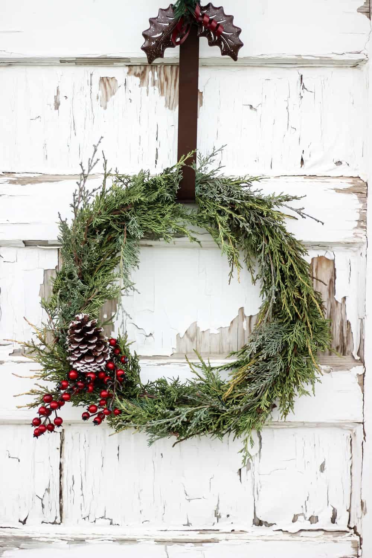 Diy Christmas Wreath Using Fresh Evergreen Clippings Back Road Bloom