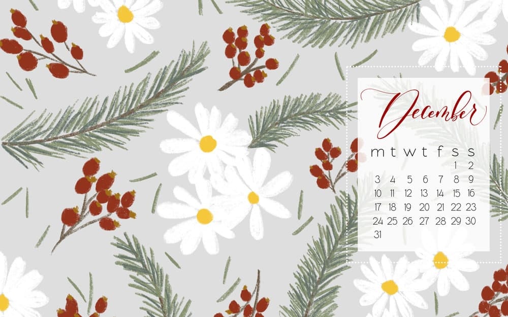 Hello December! Desktop and Mobile