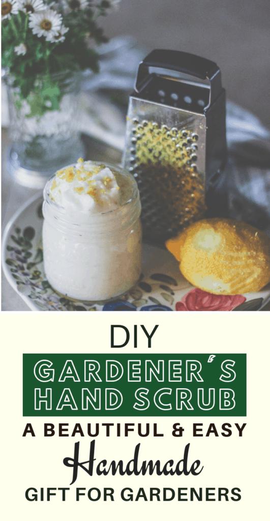 diy gardener's hand scrub, hand scrub recipes, moisturizing hand scrub, diy scrubs,, diy gifts for gardener's, handmade gardener's gifts
