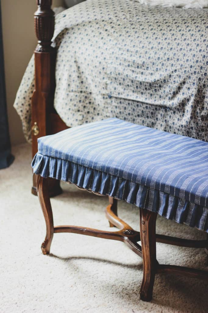 diy bench slipcover, sewing projects for beginners, handmade slipcover tutorials, easy sewing projects, handmade homemaking, how to sew a slipcover