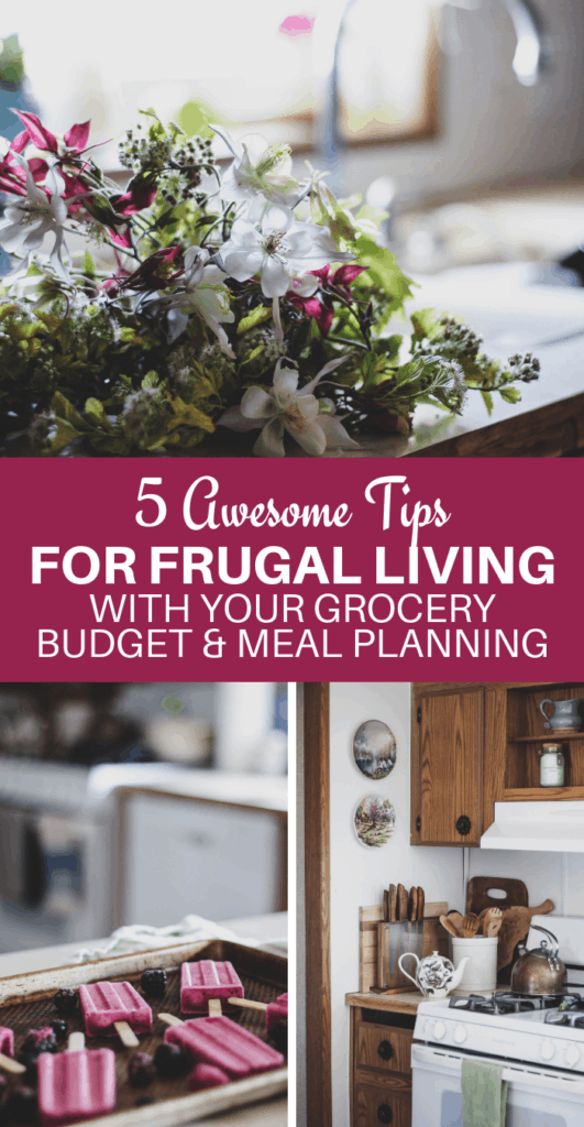 frugal living tips, grocery budgeting, homesteading ideas, old fashioned homemaking, meal planning tips, food from scratch,