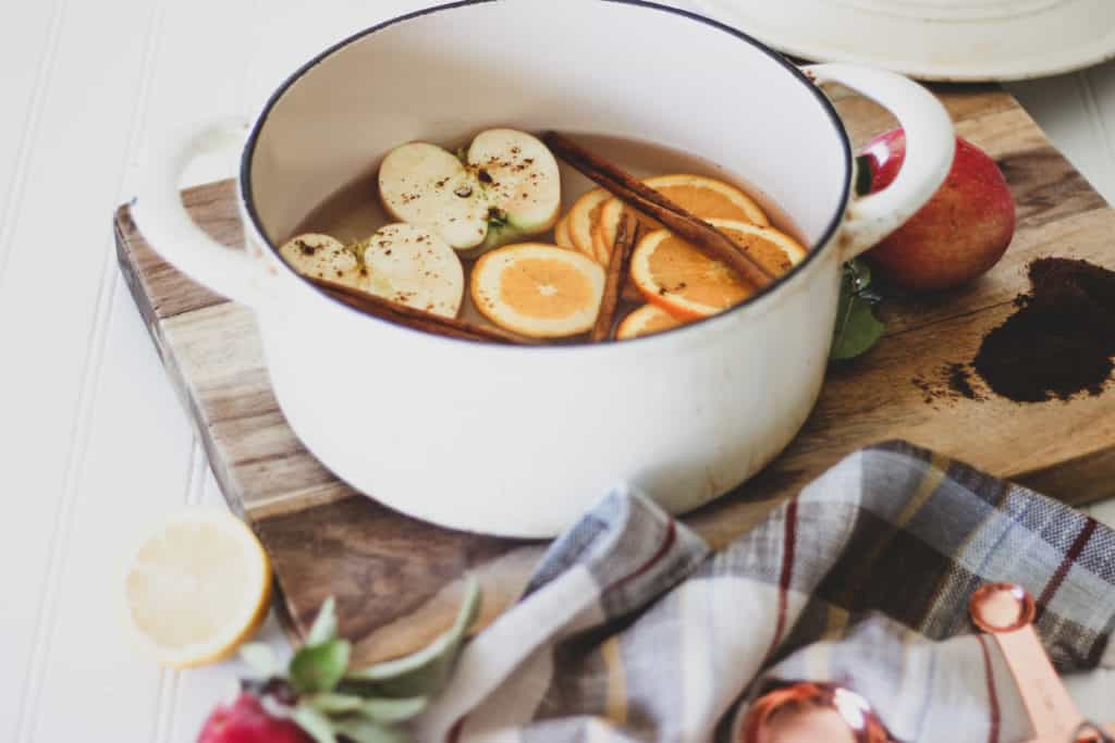 make your home smell like fall with fall stove top potpourri