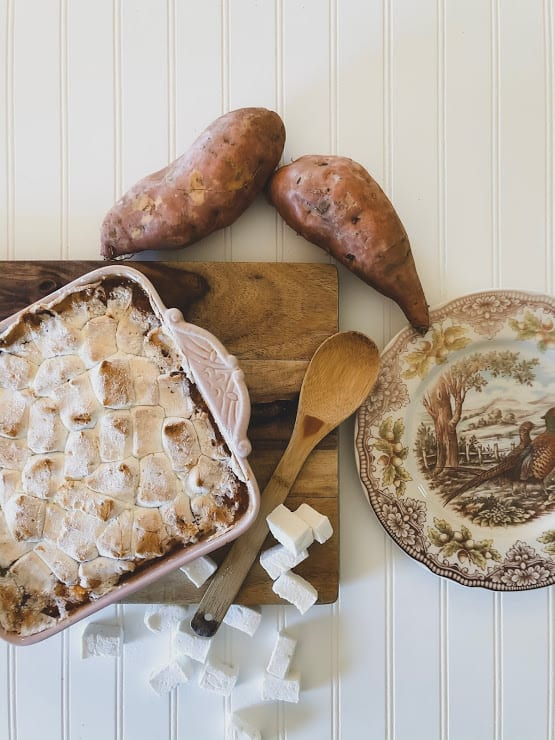 holiday recipes, holiday side dishes, sweet potato recipes, sweet potato casserole with homemade marshmallows
