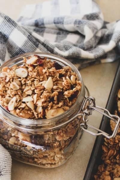 homemade granola recipe, how to make homemade granola, how to make granola at home