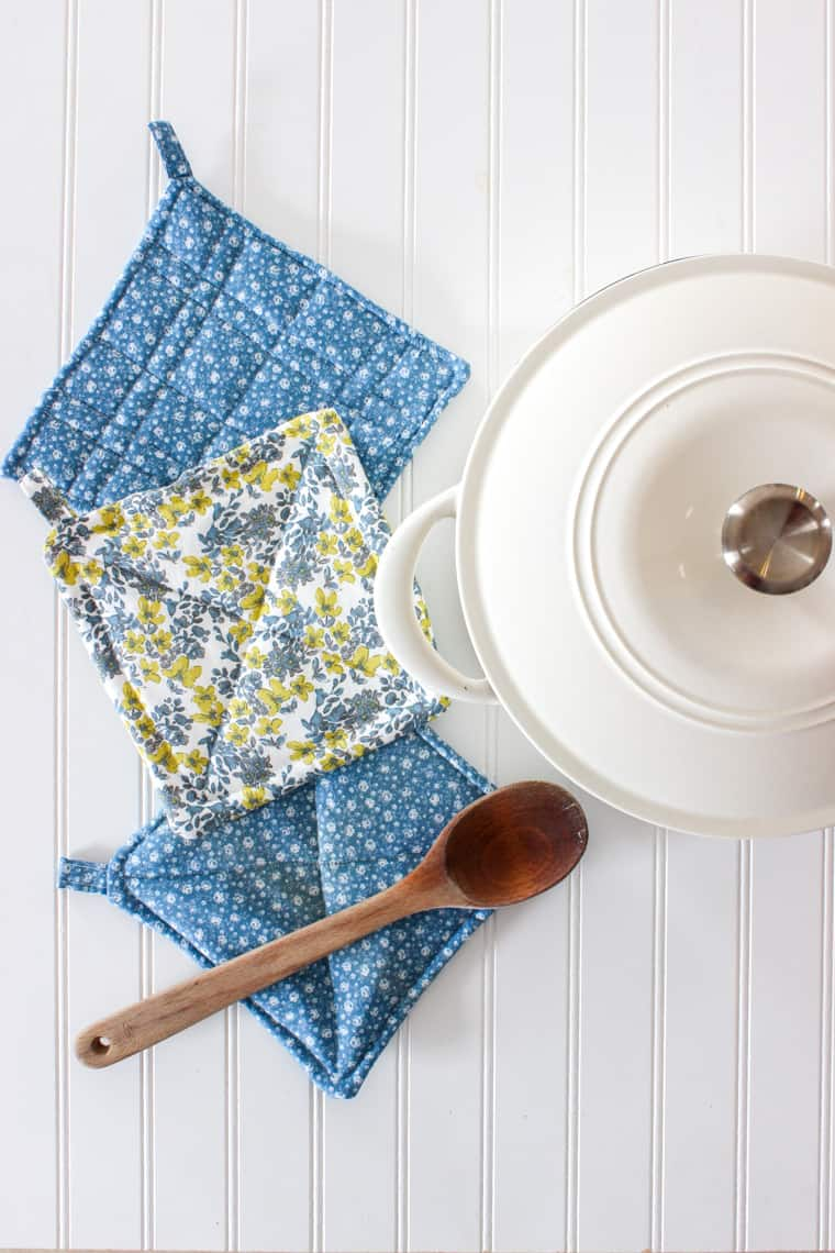 how to sew potholders sewing project for beginners