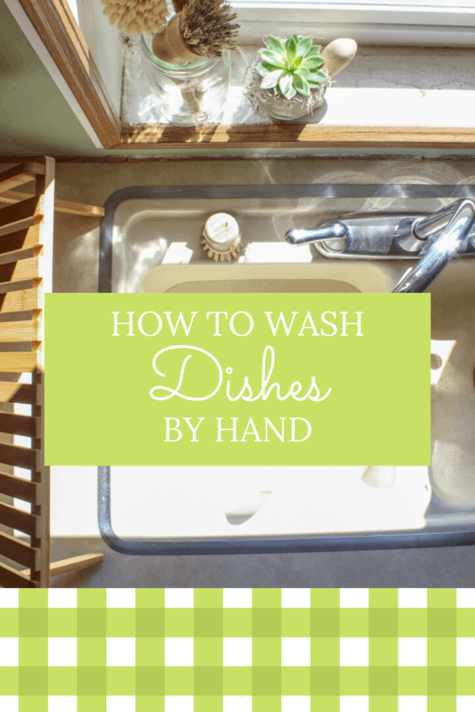 How to Wash Dishes by Hand Fast | are you wanting to get back to the basics of your homemaking routines? Learn how to wash dishes the fast and efficient way #homemaking #cleaningtips