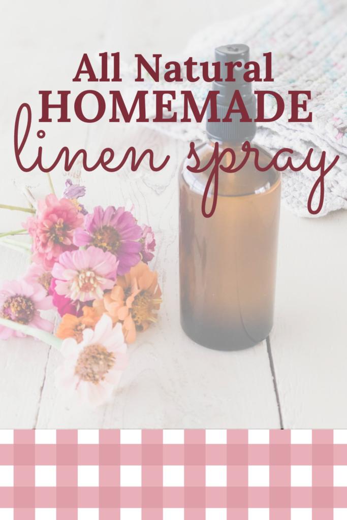homemade essential oil linen spray