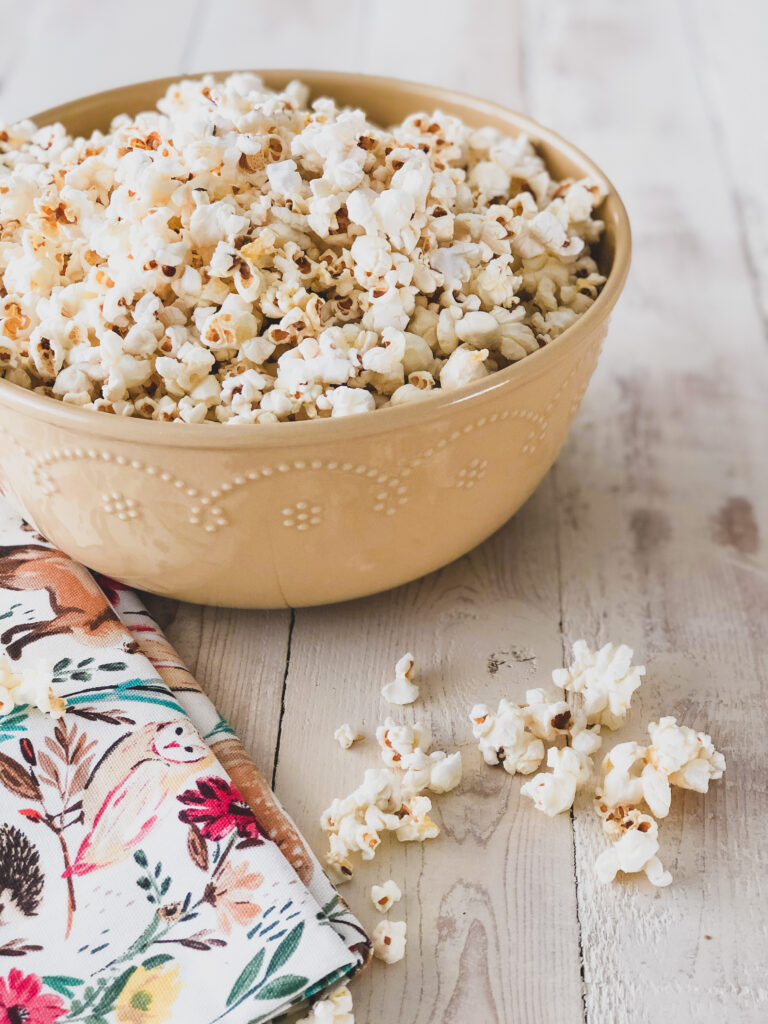how to make homemade, popcorn on the stove