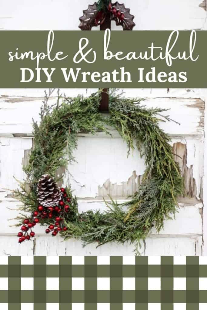 Simple and Beautiful DIY Christmas Wreath Ideas