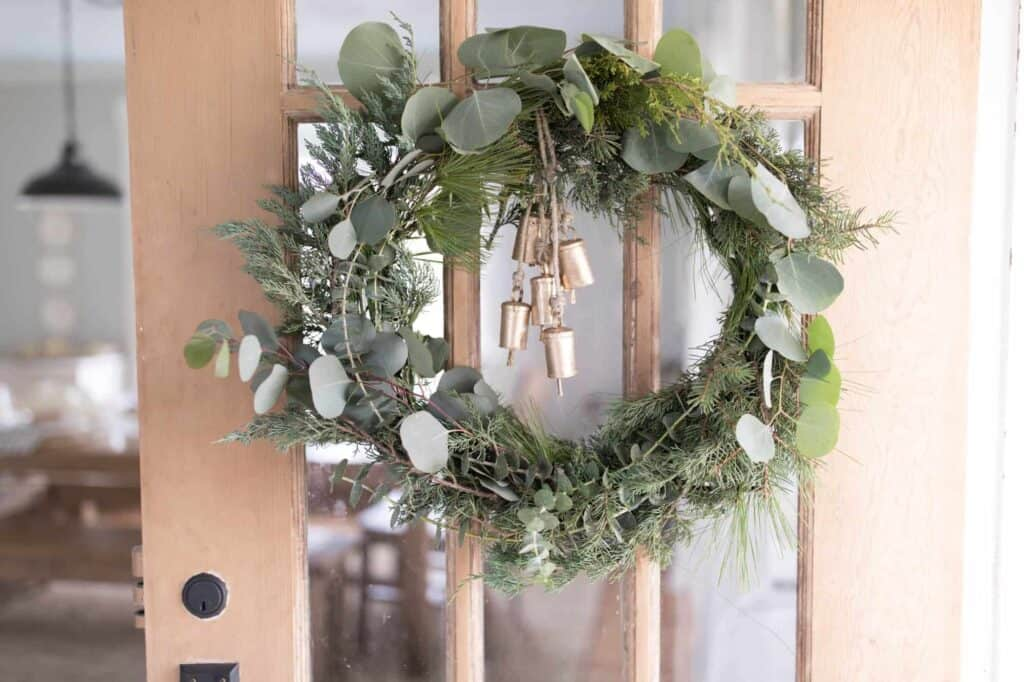 simple and beautiful fresh christmas wreath diy