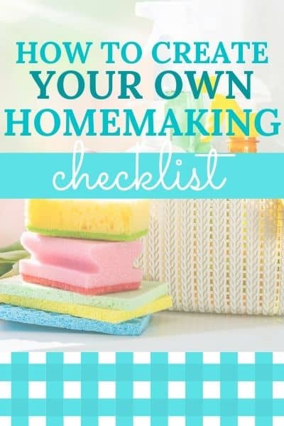 homemaking schedule and checklist tips